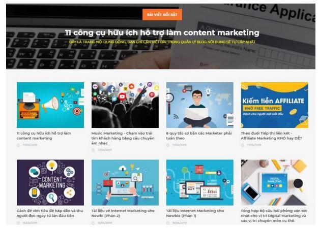 Phát triển blog thương hiệu