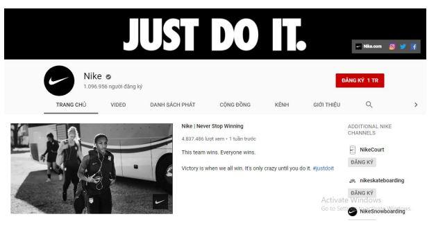 Trang chủ thương hiệu Nike