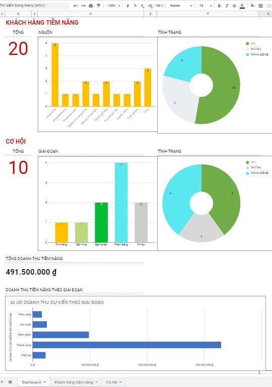 mẫu quản lý thông tin khách hàng bằng excel 7